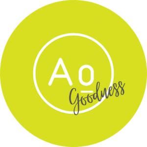 Ao goodness logo